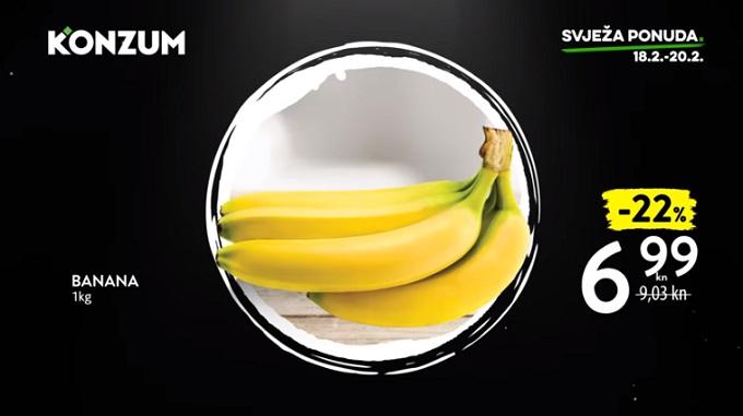 Konzum akcija banana