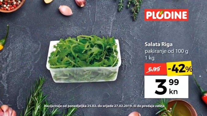 Plodine akcija salata riga