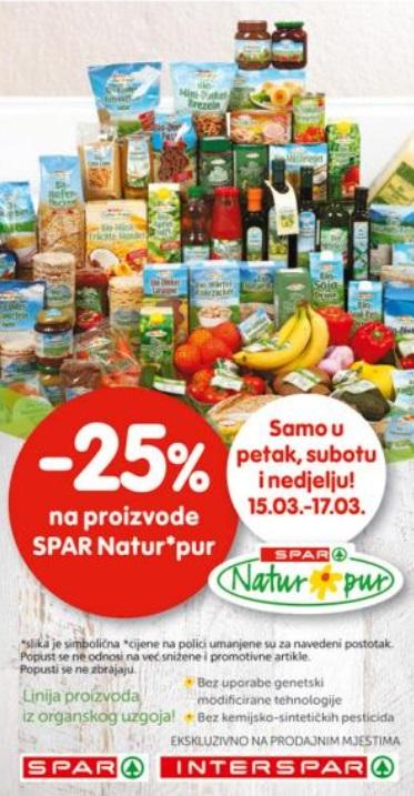 Interspar akcija Spar natur pur