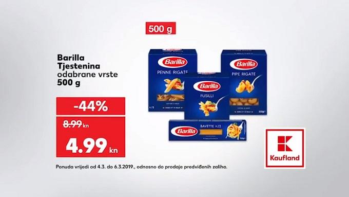Kaufland akcija Barilla tjestenina