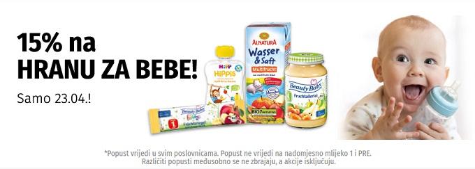 Muller akcija -15% na hranu za bebe