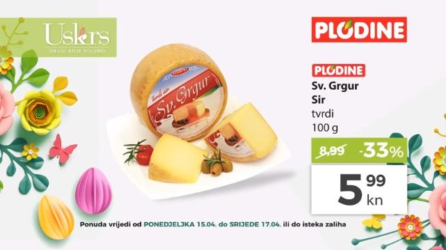 Plodine akcija sir tvrdi