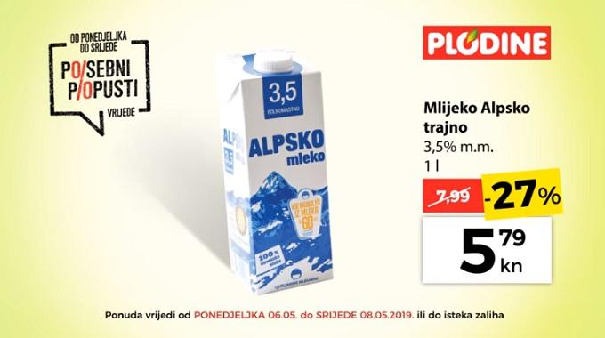 Plodine akcija mlijeko alpsko