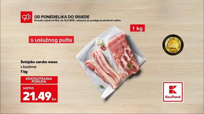 Kaufland akcija carsko meso