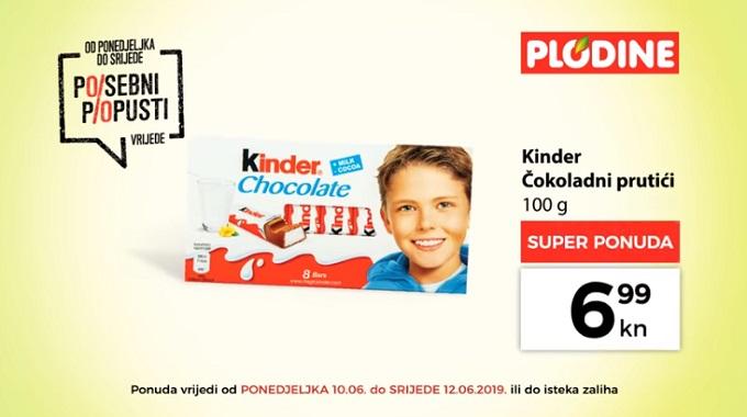 Plodine akcija Kinder čokolada
