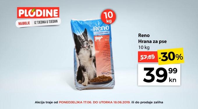 Plodine akcija Reno hrana za pse