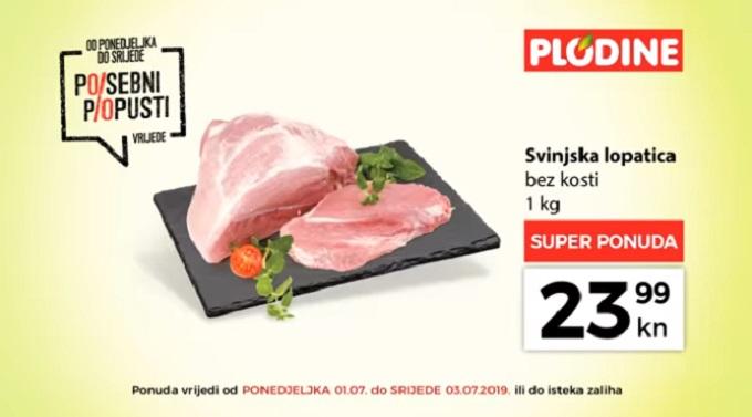 Plodine akcija svinjska lopatica