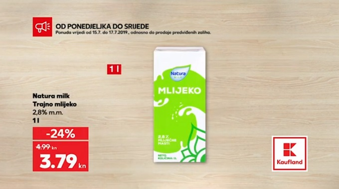 Kaufland akcija mlijeko
