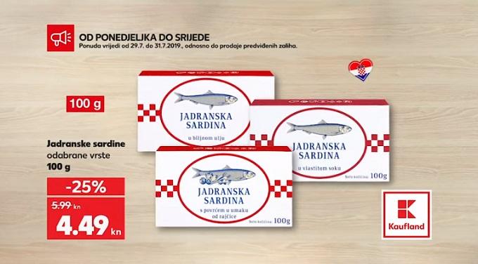 Kaufland akcija sardine