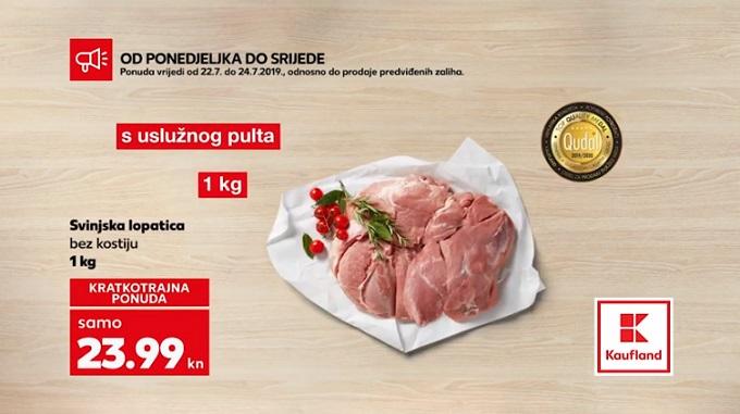 Kaufland akcija svinjska lopatica