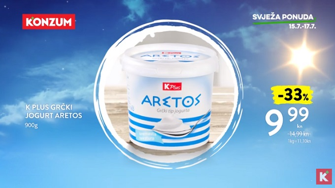 Konzum akcija grčki jogurt