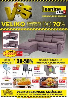 Lesnina katalog Veliko sezonsko sniženje Zagreb Pula
