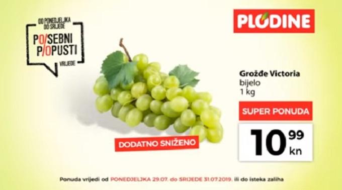 Plodine akcija bijelo grožđe