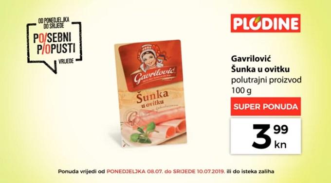 Plodine akcija Gavrilović šunka