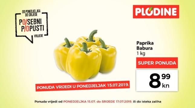 Plodine akcija paprika