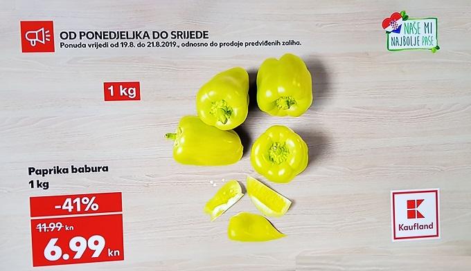 Kaufland akcija paprika