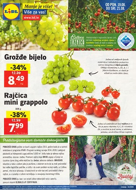 Lidl katalog Tržnica do 21.8.