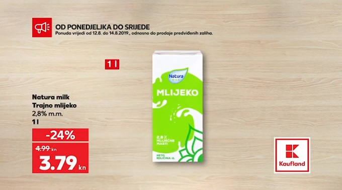Plodine akcija trajno mlijeko