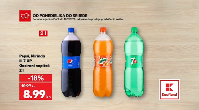 Kaufland akcija Pepsi Miranda 7up