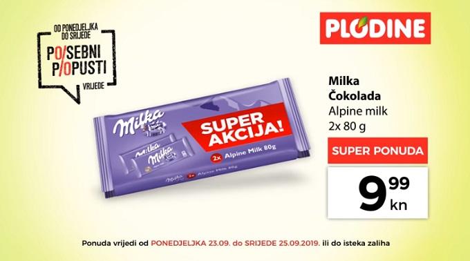 Plodine akcija Milka čokolada