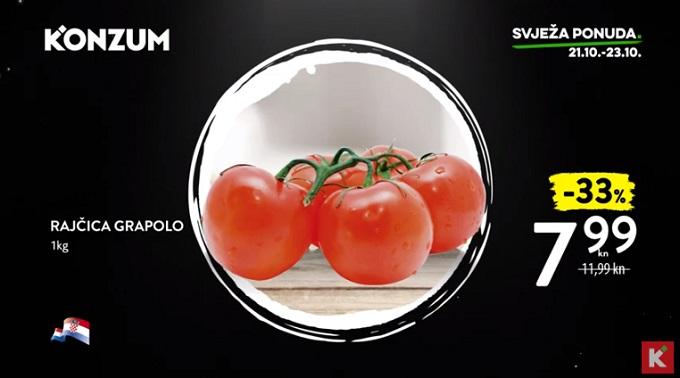 Konzum akcija rajčica