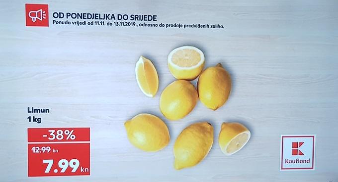 Kaufland akcija limun