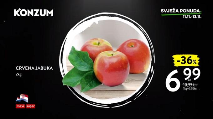 Konzum akcija jabuka