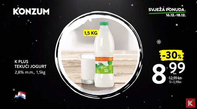 Konzum akcija jogurt