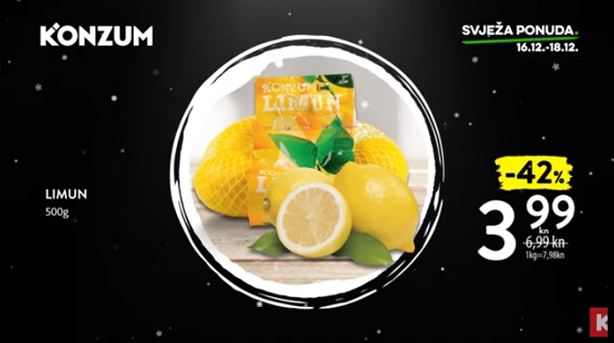 Konzum akcija limun
