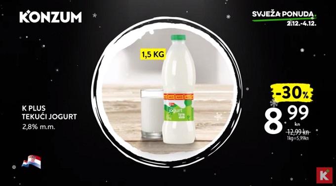 Konzum akcija tekući jogurt