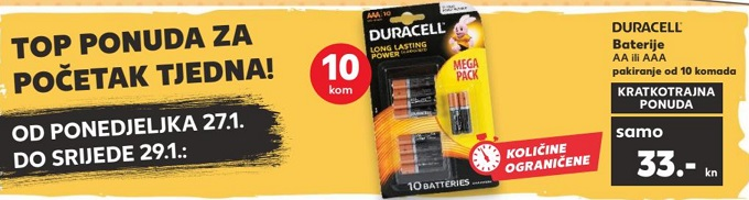 Kaufland akcija Duracell