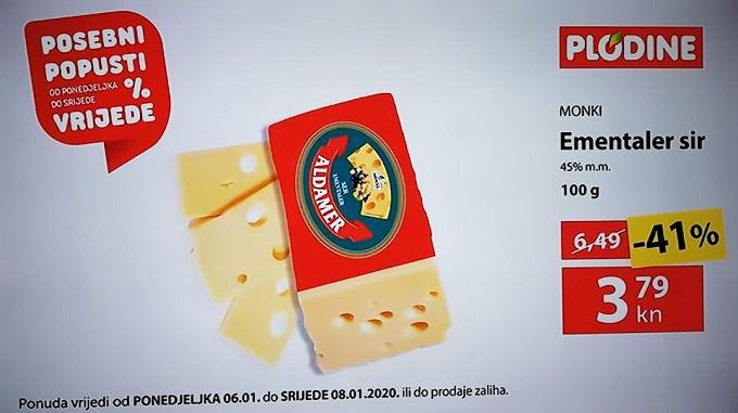 Plodine akcija Ementaler sir