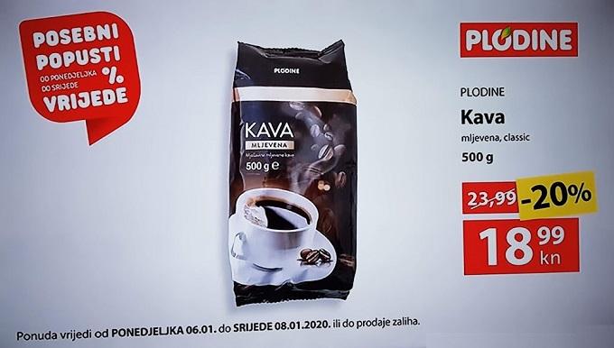 Plodine akcija kava
