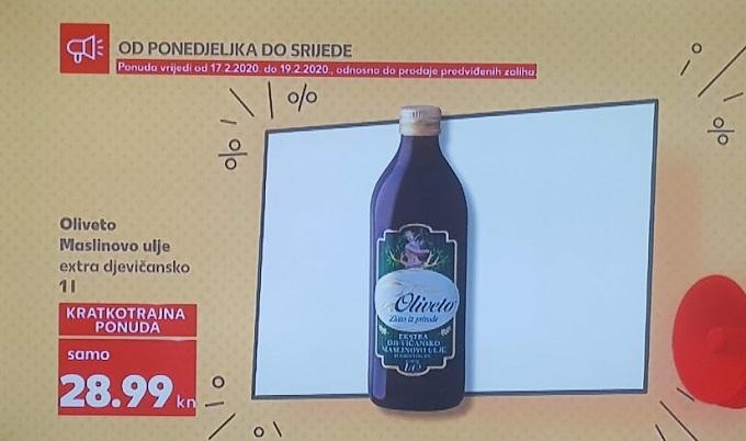 Kaufland akcija maslinovo ulje