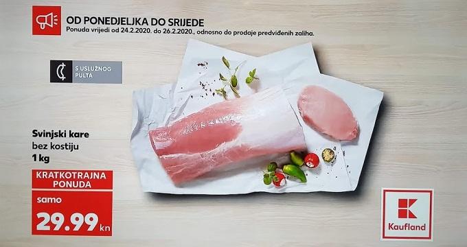 Kaufland_ kcija svinjski kare