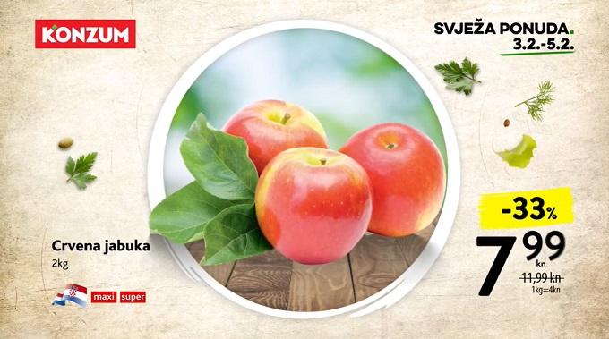 Konzum akcija crvena jabuka