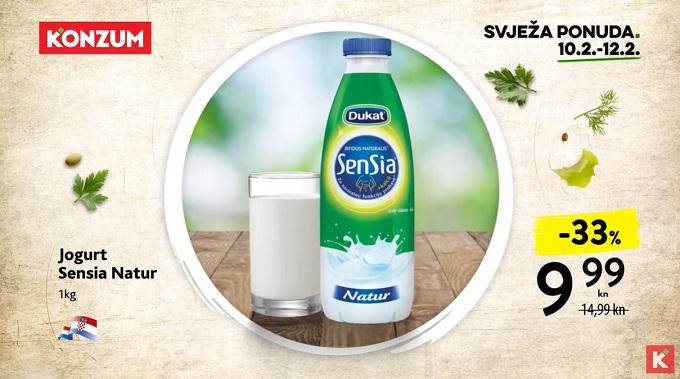Konzum akcija Sensia jogurt