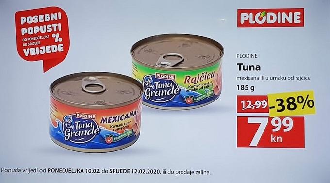 Plodine akcija tuna konzerva