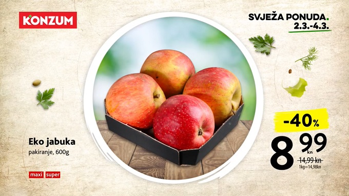 Konzum akcija eko jabuka