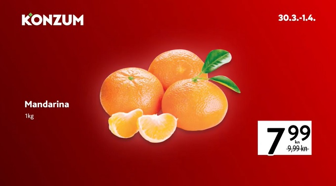 Konzum akcija mandarina