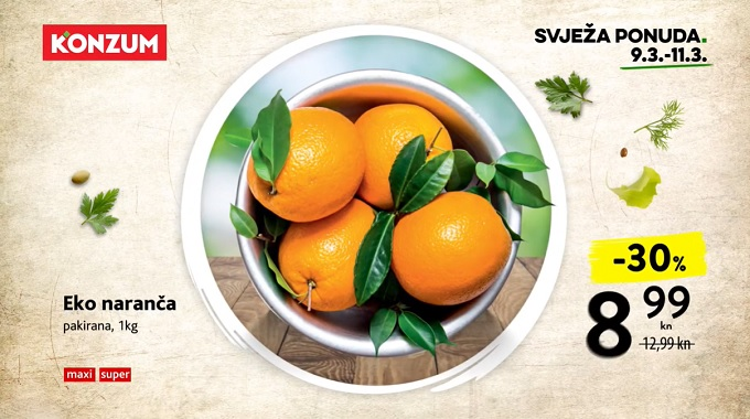Konzum akcija naranča