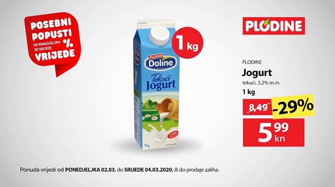 Plodine akcija tekući jogurt