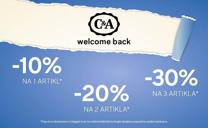 C&A akcija Welcome back