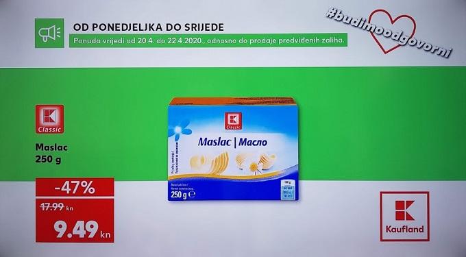 Kaufland akcija maslac