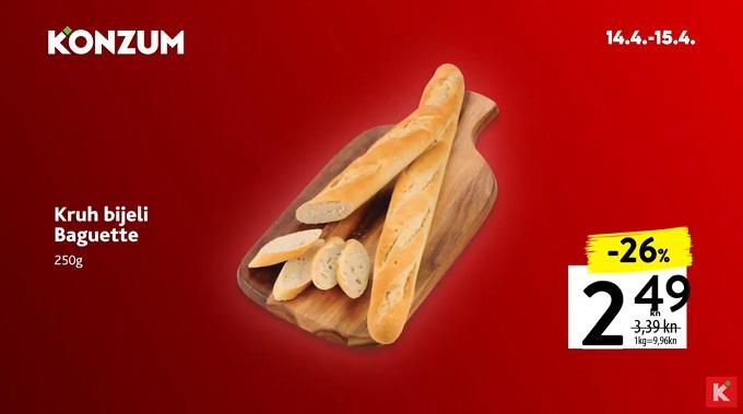Konzum akcija kruh bijeli