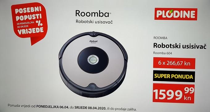 Plodine akcija usisavač Roomba