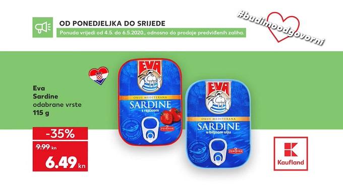 Kaufland akcija Eva sardine
