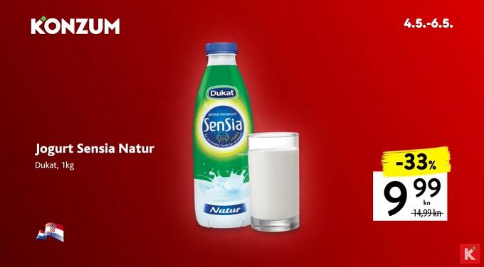 Konzum akcija jogurt Sensia