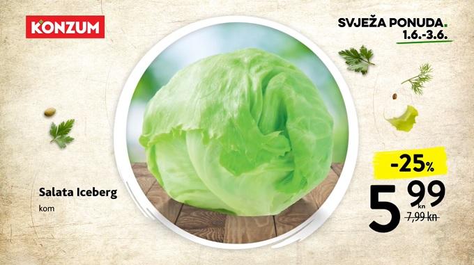 Konzum akcija salata iceberg
