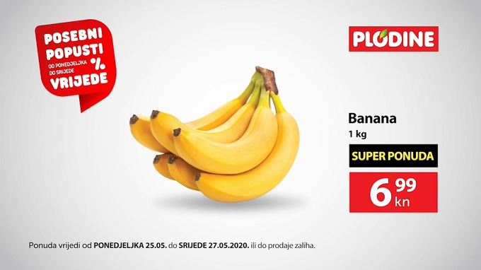 Plodine akcija banane